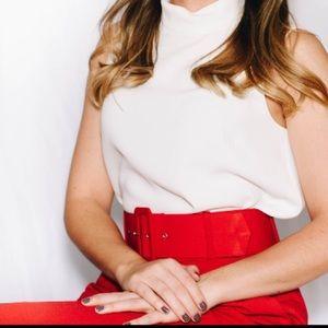 Zara Pants - Zara red pleated pants with belt